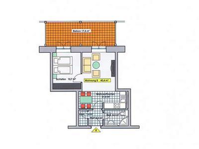 Grundriss Ferienwohnung 08 Villa Wagenknecht