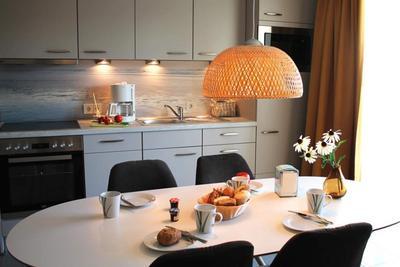 Küche in der Ferienwohnung 03 der Villa Sonnengarten