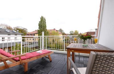 Balkon der Ferienwohnung 26 Villa Seebach