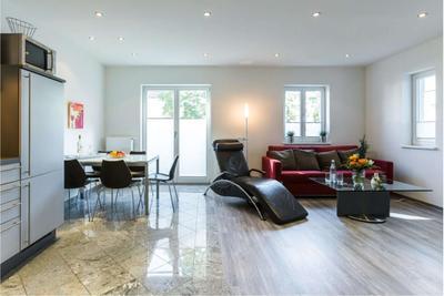 Wohnzimmer der Ferienwohnung 03 in der Villa Wagenknecht