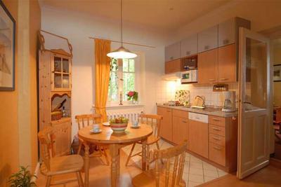Küche in der Ferienwohnung 01 im Haus Hubertus