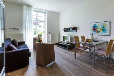 Wohnzimmer der Ferienwohnung in der 04 Villa Höger