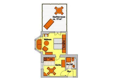 Grundriss der Ferienwohnung 01 im Haus Hubertus