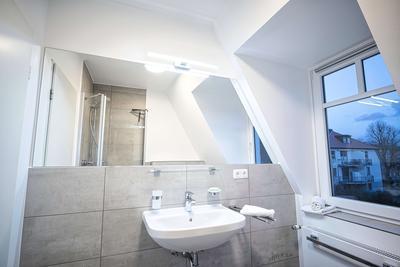 Badezimmer in der Ferienwohnung 26 Villa Seebach