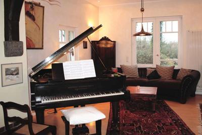 Wohnzimmer der Ferienwohnung 08 im Haus Hubertus