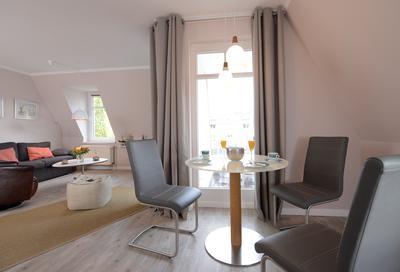 Essbereich in der Ferienwohnung 26 der Villa Seebach