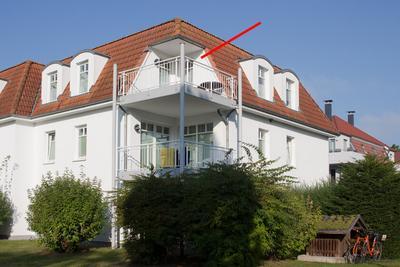 Balkon der Ferienwohnung 26 in der Villa Seebach